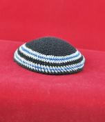 Kippah Knitted black cap 19 cm