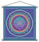 38cm X 38cm Sri Yantra Mandala Meditation Banner