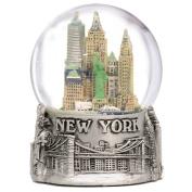 "New York City Silver Lined Snow Globe 65mm NYC Souvenir Colour Skyline Snow Globes 3.5"""