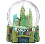 Skyline New York City Snow Globe Souvenir, 3.5 Inches Tall, 65mm