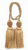 India House Chair Tie Tassels with 70cm Cord Dholak, 14cm , Earth Tone Mix
