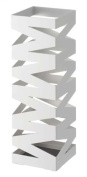 """Rock"" White Metal Modern Umbrella Stand, Accommodates up to 6 Umbrellas , 48cm H"