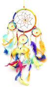 50cm Long Feather Hanging Native American Inspired Dream-catcher