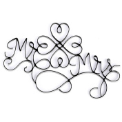Wire Wall Plaque - Mr & Mrs