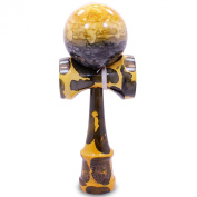 Full Yellow Fever Marble Kendama And Extra String