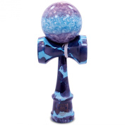 Full Blue & Purple Marble Kendama And Extra String