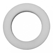 FLoraCraft Bevelled Edge Shrink Wrapped Wreath, 36cm by 6.4cm by 5.1cm , White