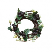 CWI Gifts 6-Piece 2.5cm Pip Berry Ring Set, Mini, Coffee Bean