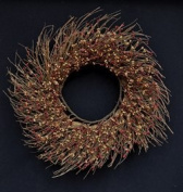 CWI Gifts Pip Twig Wreath, 60cm , Burgundy/Old Gold