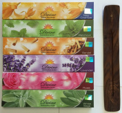 Gift Set of 6 Nag Champa Sandalwood Patchouli Rose Lavender and White Sage Incense Kit