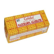 Goloka (Gold) Nag Champa Incense - 250 Gramme Box
