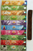 Gift Set of 10 Nag Champa Sandalwood Patchouli Rose Lavender Jasmine Healing Love White Sage Money Drawing Incense Kit