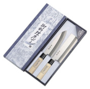2 Piece Japanese Kitchen Knife Set - Extra Hard Steel - Made in Japan