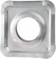 HB 40 Pcs Aluminium Foil Square Gas Burner Disposable Bib Liners Covers