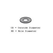 Fibre Washer for Meat Grinder/Chopper - 2.5cm - 1.3cm OD, 2.2cm HD