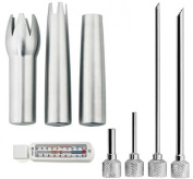 iSi Stainless Steel Decorating and Injector Tips with Refridgerator Freezer Thermometer, 2717 / 2718, Set of 7