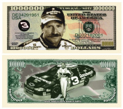Dale Earnhardt Million Dollar Novelty Bill Collectible