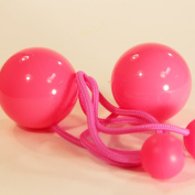 Play Pair of Contact Poi with 80mm Stage Ball- Pink