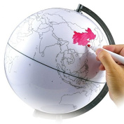 Recesky Drawing Tellurion Scratch Map White for Playing Toy & Gift