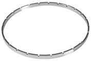 Golden Gate Crenellated 24-Notch Tension Hoop - Nickel-Plated Brass