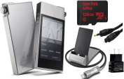 Astell & Kern AK120II High Resolution Digital Audio Player with 128GB MicroSD, Extreme Audio Wall Charger, PEM11 USB Docking Station, Optical Audio Connexion Kit