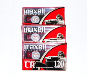 Maxell Audio Cassette Normal Bias UR 120 IEC Type I EQ 120us PACK OF 3