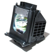 915P061010 - Lamp With Housing For Mitsubishi 915P061010, WD-65733, WD-57733, WD-65734, WD-73733, WD-65833, WD-73833, WD-57734, WD-73734, WD65733, WD-Y657, WD-57833, WD-C657, WD73733, WD65734, WD57733, WD73833, WD73734 TV's