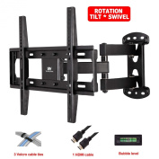 """Mounting Dream MD2377 TV Wall Mount Bracket with Full Motion Articulating Arm (15"""" Extension) for 26-55 Inches LED, LCD and Plasma TVs up to VESA 400x400mm and 30kg, with Tilt, Swivel, and Rotation Adjustment, Including 1.8m HDMI Cable and Magnetic Bu .."""