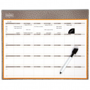 Mead Organizher Write 'N Wipe Monthly Undated Dry-Erase Calendar, 38cm x 30cm , Purple