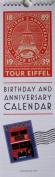 "Linnea Design Birthday and Anniversary Perpetual Calendar ""Travel Motif"""