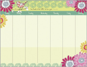 Sparrow Flowers Magnetic Weekly Calendar Pad with Scripture