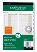 Day Runner Monthly Planner Refill 2015, 14cm x 22cm Page Size