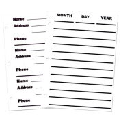 Refill pages for Giant Print Organiser- 50 Sheets