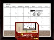 Quartet Magnetic Combination Calendar Board, Dry-Erase and Cork, 43cm x 60cm , Two-Tone Frame