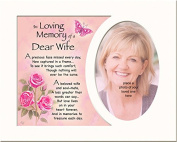 Memory Mounts Memorial In Loving Memory Of A Special Wife Mount And Poem For A Photo Frame 25cm x 20cm