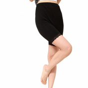 Liang Rou Maternity Elastane Adjust Waistband Short Leggings Colour Black