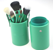 VALUE MAKERS Hot Sale 13pcs High Quality Professional Makeup Brushes Set Goat Hair Eyeshadow Powder Foundation Make up Brush Kit with Cylinder Case Beauty Cosmetic Tools