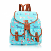 Sausage Dog Print Classic Retro Style Rucksack Backpack