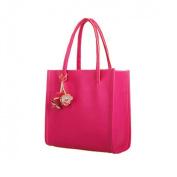 Culater®Fashion Elegant Girls Handbags Leather Shoulder Bag Candy Colour Flowers Women Tote