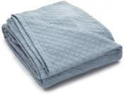 King Charles Matelasse Queen Bedspread, Powder Blue
