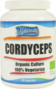Kala Health - Pure Cordyceps sinensis 740mg (90 Vegetarian Capsules)- The Natural Mushroom for Increased Vitality, Endurance and Stamina