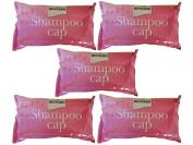 Pack of 5 no rinse shampoo caps