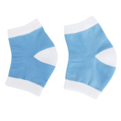 Homgaty 1 Pair Gel Heel Pain Relief Socks Cracked Skin Moisturising Heels Comfort Protector