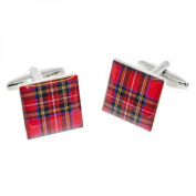 Scottish Royal Stewart Red Tartan Cufflinks