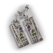 """Charles Rennie. Sterling Silver Earrings """"Lover"""" Tarnish Resistant. Free Recorded Delivery."""