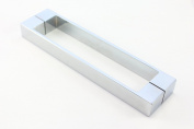 Solid Stainless Steel Shower Door Handle | 192mm (19.2cm) Hole to Hole