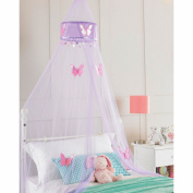 Purple Princess Crown Bedroom Bed Canopy, Girls Bedroom Makeover, 30cmx230cm