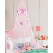 Pink Princess Crown Bedroom Bed Canopy, Girls Bedroom Makeover, 30cmx230cm