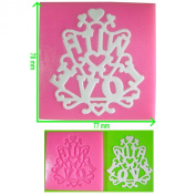 With Love Sentiment Lace Embossing Silicone Mould Mould for Cake Decorating Cake Cupcake Toppers Icing Sugarcraft Tool by Fairie Blessings