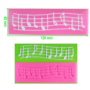 Musical Notes on Staff Lace Embossing Silicone Mould Mould for Cake Decorating Cake Cupcake Toppers Icing Sugarcraft Tool by Fairie Blessings